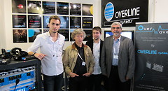 L'�quipe Overline au salon IBC 2013